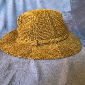 NWT Altar'd State Mustard Woven Pattern Hat